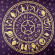 Wheel of Zodiac symbols — Stock Photo #5383238
