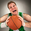 Bizarre basketball player — Stock Photo #5383287