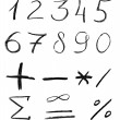 Pencil sketch of numbers — Stock Photo