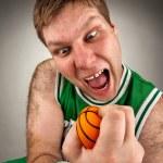 Bizarre basketball player — Stock Photo