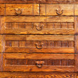Wooden vintage furniture — Stock Photo