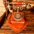 Wooden telephone — Stock Photo