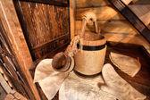 Akcesoria do sauny fińskiej — Zdjęcie stockowe