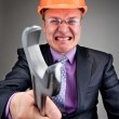 Angry contractor — Stock Photo