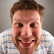 Portrait of smiling bizarre man — Stockfoto