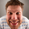 Portrait of smiling bizarre man — Stock Photo #5590501