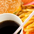 set di fast food — Foto Stock