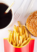 Fast food set — Stock Photo