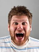 Angry screaming man — Stock Photo