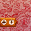 Stock Photo: Antique wooden light switch