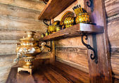 Samovar ruso tradicional — Foto de Stock