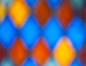 Blurred colorful stained glass — Stock Photo