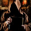 Monk in church — Stock Photo #5761006