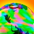 Colorful glass globe with shining — Stock Photo