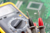 Probe of digital multimeter — Foto Stock