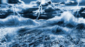 Dark stormy sea — Stock Photo
