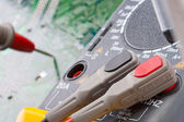 Close-up of digital multimeter — Stock Photo