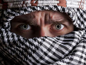 Scared middle eastern man looking to you — Stock Photo