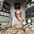 Stockfoto: Scientist at vintage laboratory