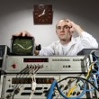 Scientist at vintage laboratory — Foto de Stock