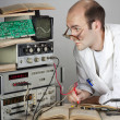 Scientist at vintage laboratory — Foto Stock
