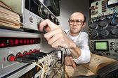 Scientist at vintage laboratory — Stock Photo