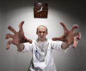 Ominous angry doctor — Stock Photo