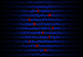 Encryption concept - red decrypted letters — Stock Photo