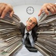 Exhausted businessman - Stockfoto