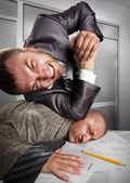 Businessmen fighting in the office — Stock Photo