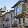 Domodossola, Italy - Medieval houses — Stock Photo