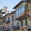 Domodossola, Italy - Medieval houses - Stock Photo