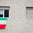 Italian flag on window — Stock Photo
