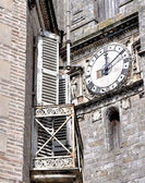 Old building before clock — Stock Photo