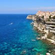 City perched on a cliff by the sea — Stock Photo #6320481