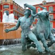 Fountain in Plaza Massena square, Nice - Stock Photo