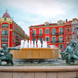 Plaza Massena square in Nice, France — Stockfoto