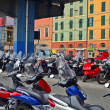 Row of scooters in Italy — Stock Photo