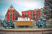 Plaza Massena square in Nice, France — Stock Photo