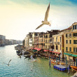 Foto Stock: Grand canal, view from Rialto bridge, Venice