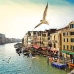 Grand canal, vista da ponte de rialto, Veneza — Foto Stock