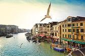 Grand canal, view from Rialto bridge, Venice — Stock Photo