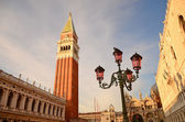 San Marco square on sunset, Venice, Italy — Stock Photo