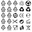 Stock Vector: Packaging icons for designers