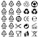 balení ikony pro projektanty — Stock vektor