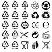 Verpakking pictogrammen voor ontwerpers — Stockvector