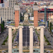 Four columns and Plaza de Espana, view from National Art Museum in Barcelon — Stock Photo #5708108