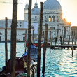 Basilica Santa Maria della Salute on sunset, Venice — Stock Photo #5726547