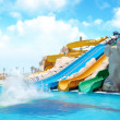 Colorful aquapark constructions — Stock Photo