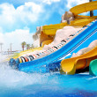 Aquapark sliders — Stock Photo